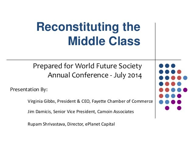 Reconstituting the Middle Class Prepared for World Future Society Annual Conference - July 2014 Presentation By: Virginia ...