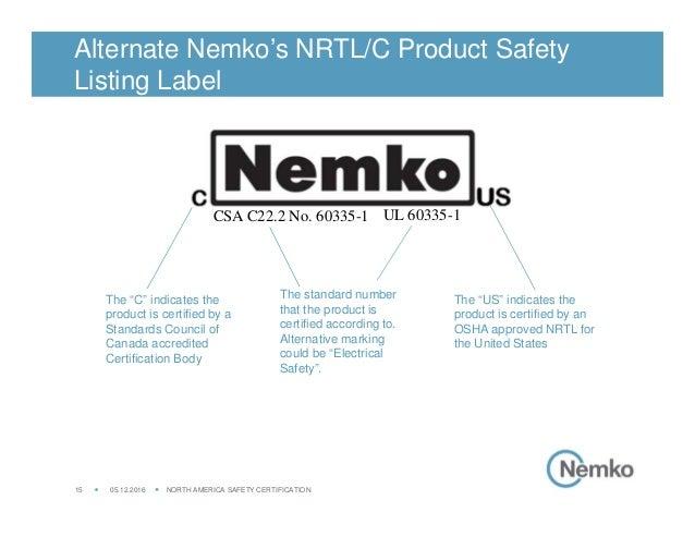 c[Nemko]us - il Marchio Nemko per Canada e Nord America