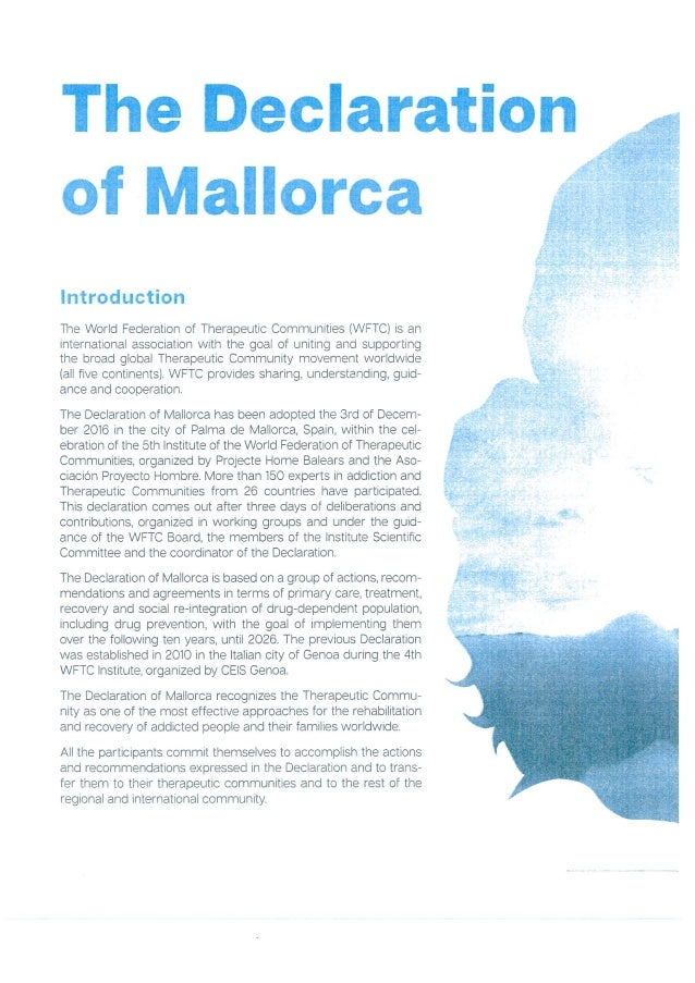 WFTC The Declaration of Mallorca 2016