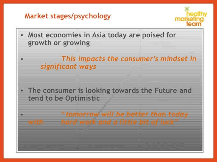 Market stages/psychology <ul><li>Most economies in Asia today are poised for growth or growing  </li></ul><ul><li>This imp...
