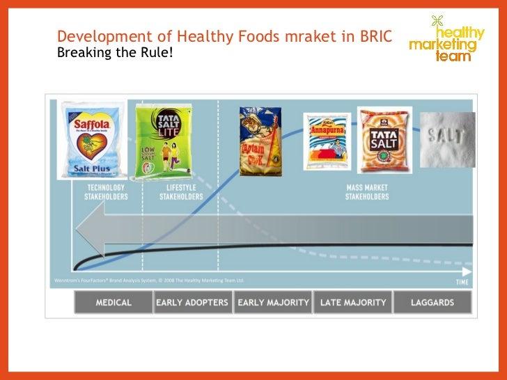 Development of Healthy Foods mraket in BRIC  Breaking the Rule!