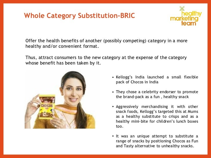 Whole Category Substitution-BRIC <ul><ul><li>Offer the health benefits of another (possibly competing) category in a more ...
