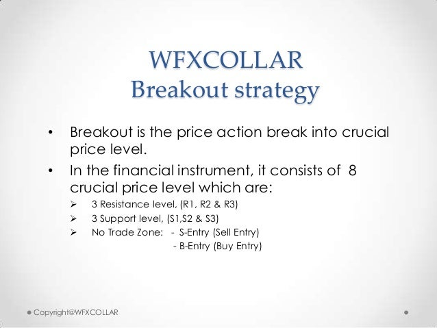 WFXCOLLARBreakout strategy• Breakout is the price action break into crucialprice level.• In the financial instrument, it c...