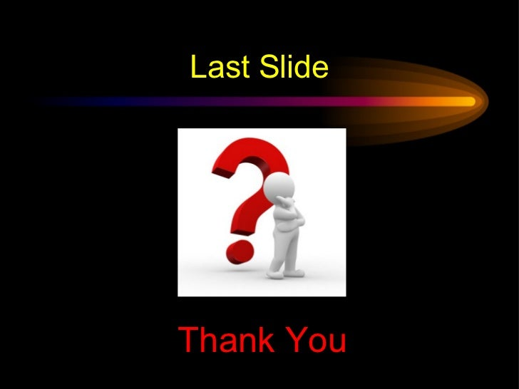 how to end a powerpoint presentation slide