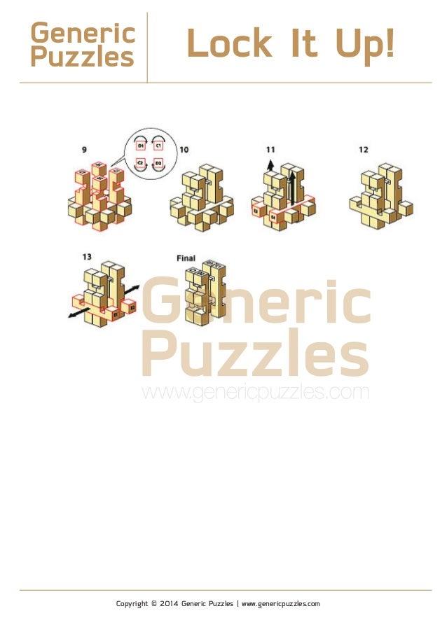 Generic Puzzles Solution - Lock It Up! 3