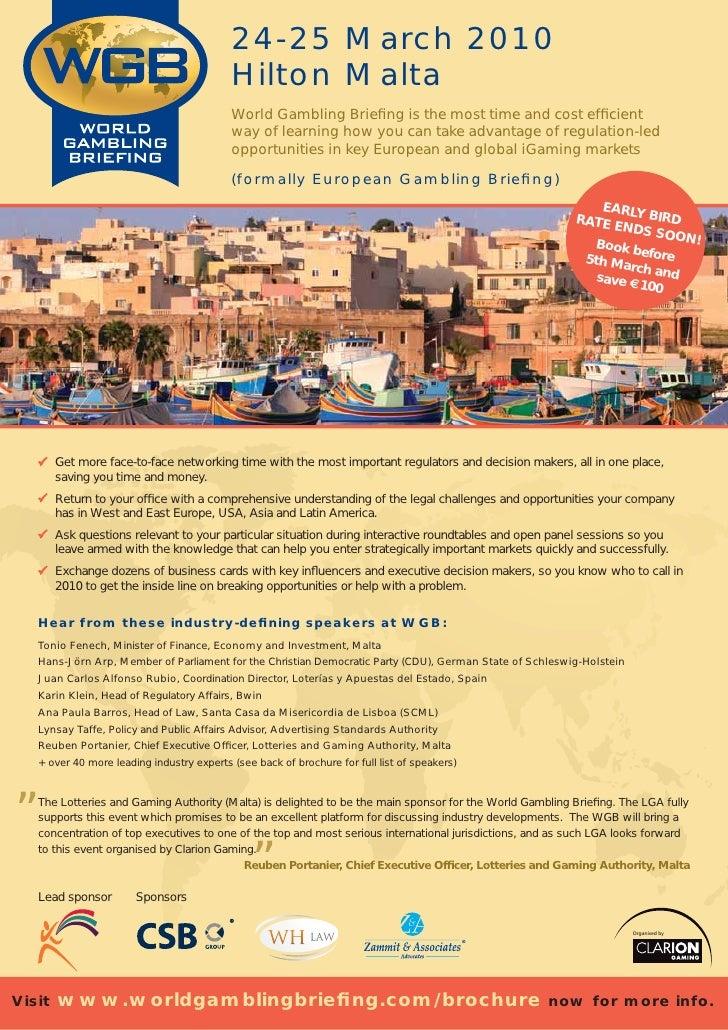 24-25 March 2010                                            Hilton Malta                                            World ...