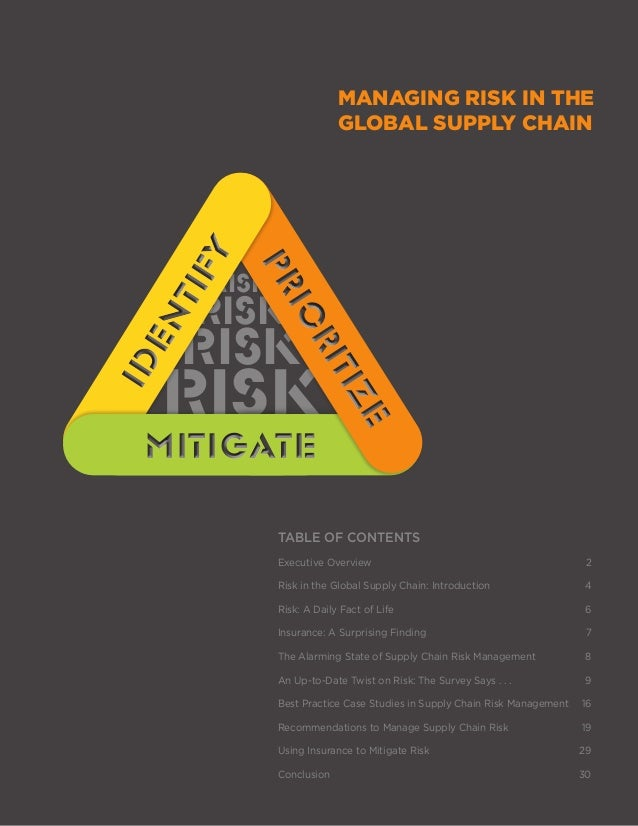 managing the global supply chain report Retail companies become involved in supply chain management to control  there are now global supply chain management specialists and firms who oversee the .