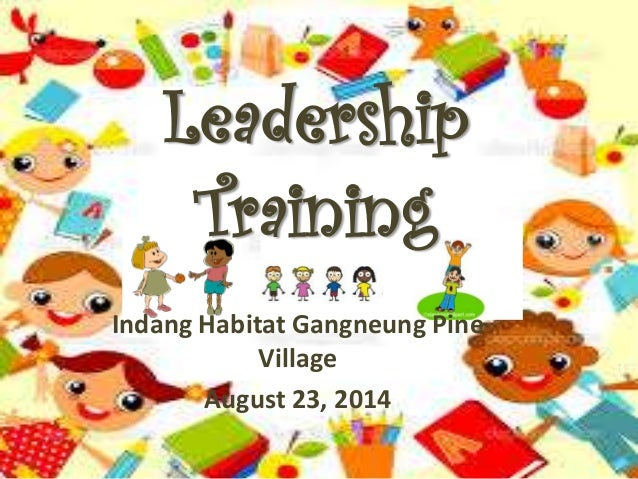 Leadership  Training  Indang Habitat Gangneung Pine  Village  August 23, 2014