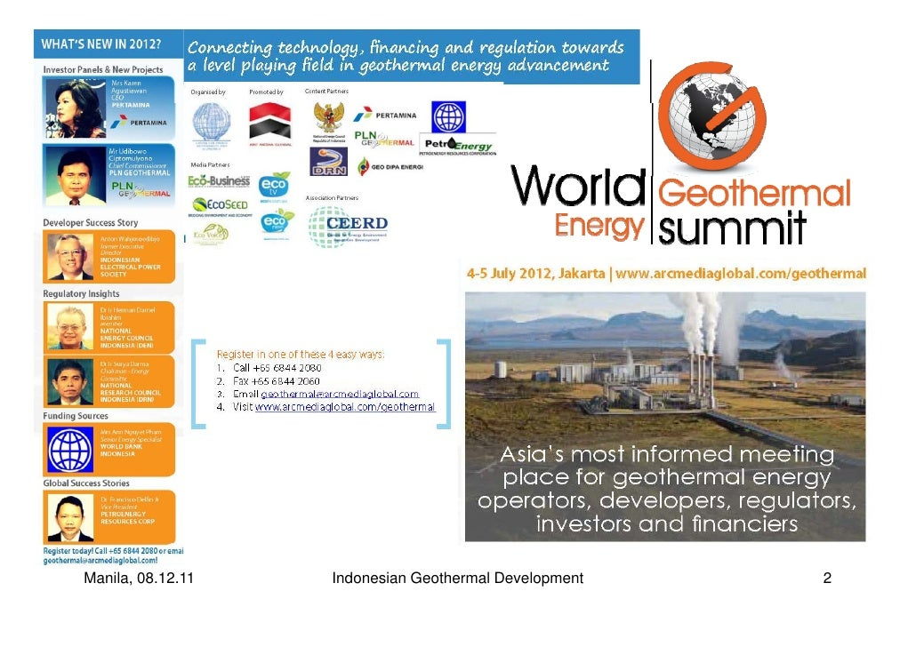 Wges 2011 geothermal development in indonesia 2011 arc media global manila 081211 indonesian geothermal development 2 sciox Gallery