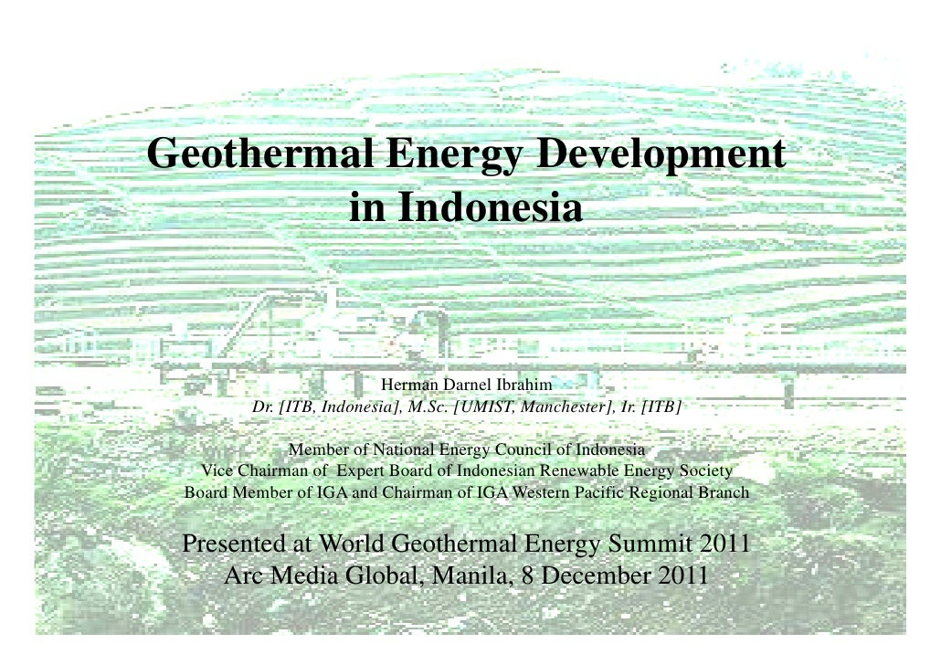 Wges geothermal development in indonesia 2011 arc media global geothermal energy development in indonesia herman darnel sciox Gallery