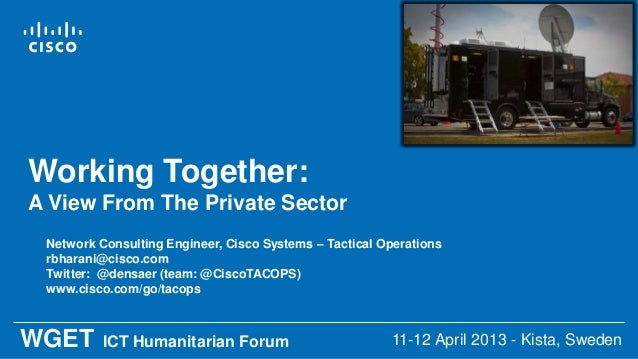 Working Together: The Private Sector In Humanitarian Response