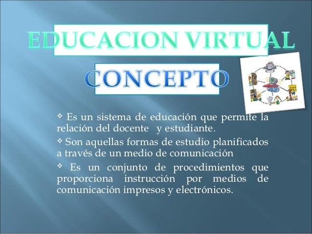 ELEMENTOS QUE                   CONSTITUYEN LA                 EDUCACION VIRTUAL                      EL MODELO           ...