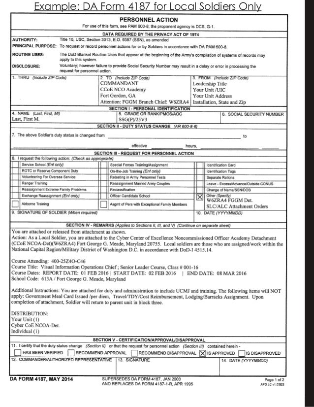 u003d1458593245 Da Form Macp Example on compassionate reassignment, for aviation badge, driver's badge, for combat action badge, deletion orders, change mos, separate rations,