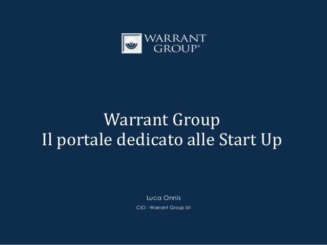 Warrant Group nasce a Correggio (Reggio Emilia) nel 1995 per volontà del fondatore e attuale Presidente, Fiorenzo Bellelli...