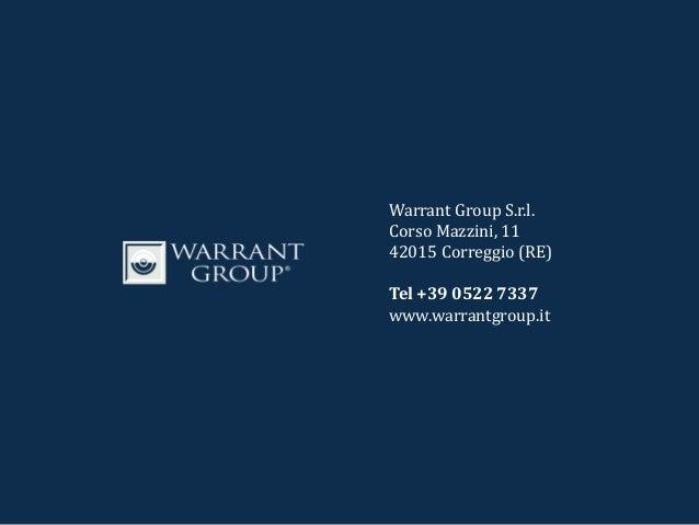 Presentazione portale di monitoraggio dei finanziamenti pubblici dedicati alle StartUp   Warrant Group