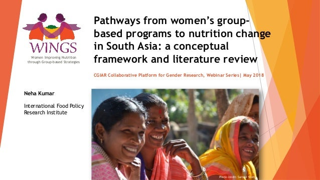 Pathways from women's group- based programs to nutrition change in South Asia: a conceptual framework and literature revie...