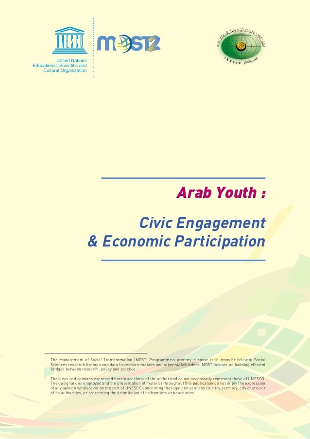bacac305589f89 arab youth civic engagement  amp  economic participation