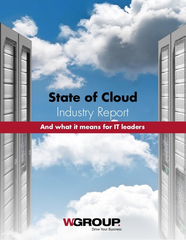 Drive Your Business And what it means for IT leaders Industry Report State of Cloud