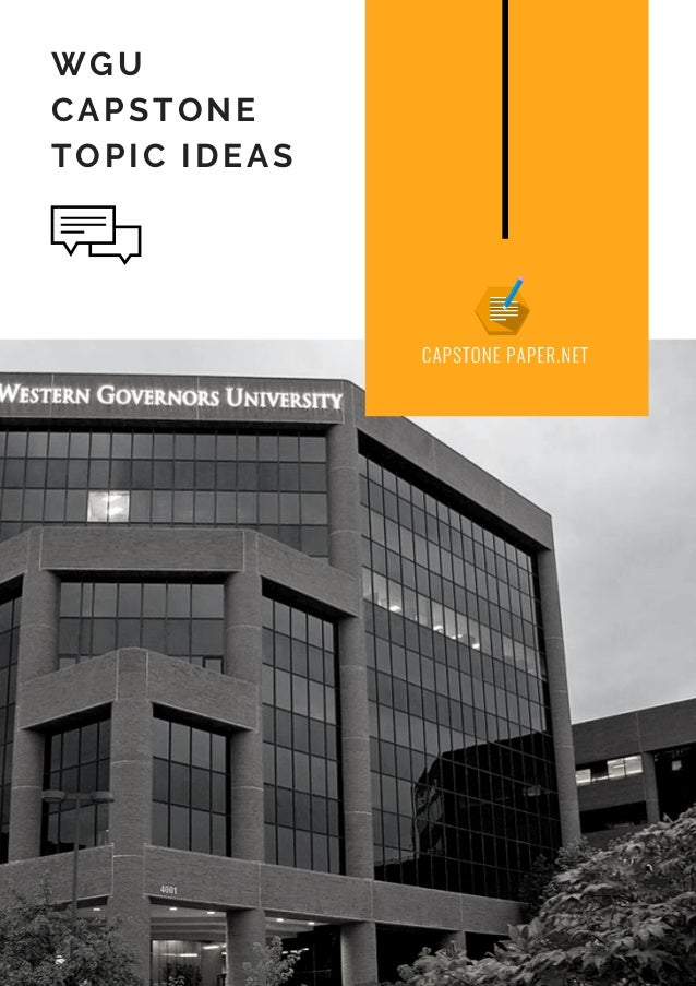 WGU Capstone Topic Ideas