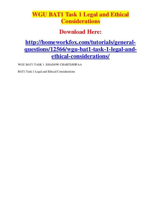 Wgu jft2 task 3 Term paper Sample - August 2019 - 1070 words
