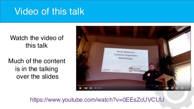 Video of this talk Watch the video of this talk Much of the content is in the talking over the slides https://www.youtube....