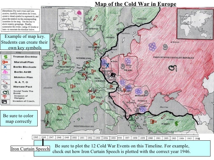 Cold War In Europe Map.Cold War Map And Timeline