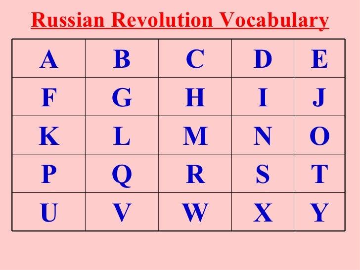 Russian Revolution VocabularyA      B      C      D     EF      G      H      I     JK      L      M      N     OP      Q ...