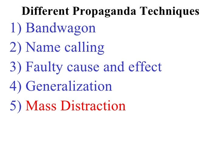 Totalitarian Methods – Propaganda Techniques Worksheet