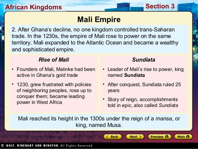 """the ghana empire notes West african empires the ghana empire one of the earliest sources notes that """"under the king's authority are a number of kings."""