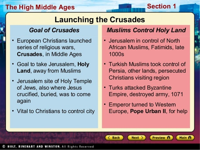 World History Ch. 14 Section 1 Notes