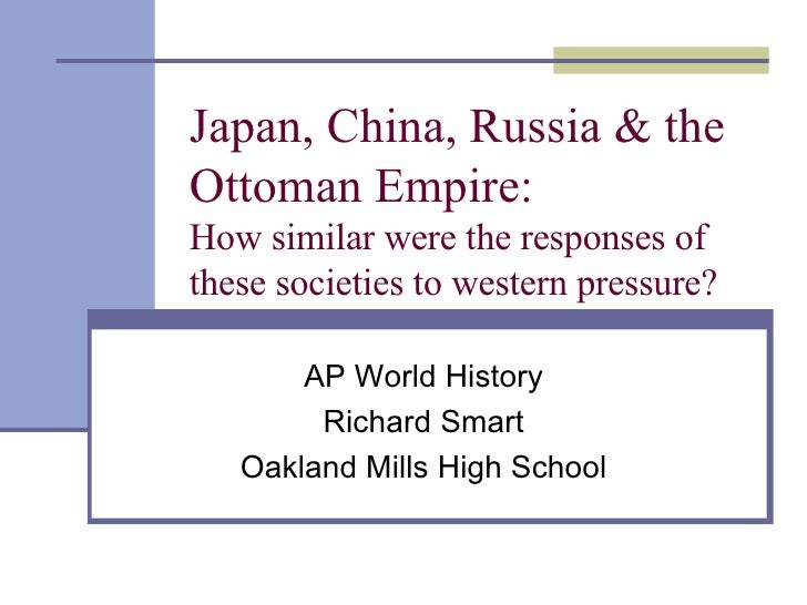 compare ad contrast russia and japan