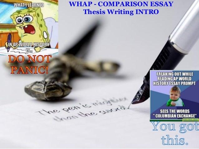 comparison essay thesis example