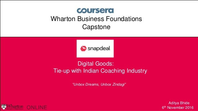 9416cdce54e Wharton Online Capstone Project-Snapdeal