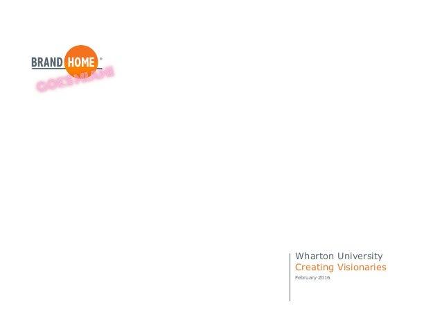 Wharton University Creating Visionaries February 2016