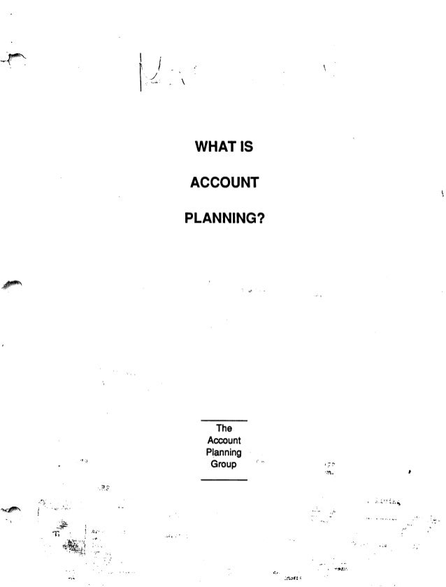 What is account planning apg