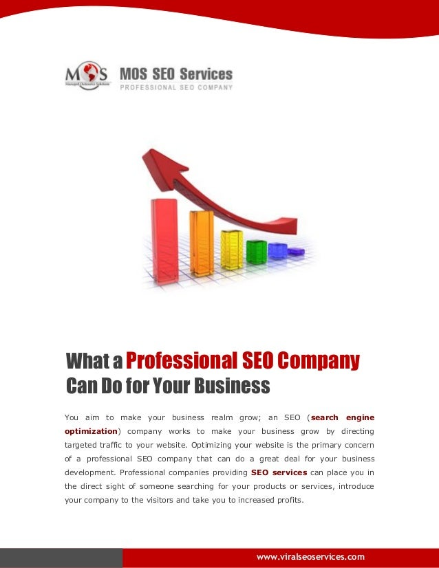 What a Professional SEO Company Can Do for Your Business You aim to make your business realm grow; an SEO (search engine o...