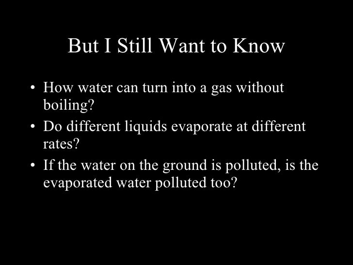what affects the rate of evaporation What ways for reduce evaporation of surface water (lake, river ) the salt content in water affects the rate of evaporation experimental studies show that the rate of evaporation decreases with increase in salt content in water.