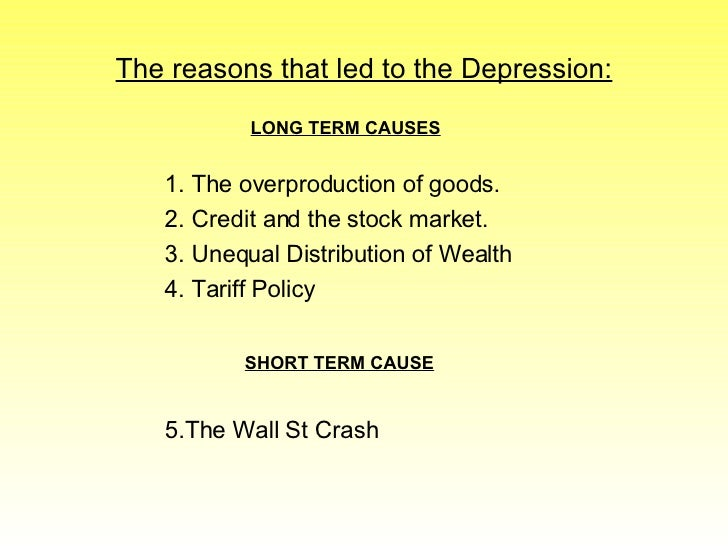 introduction to a great depression essay