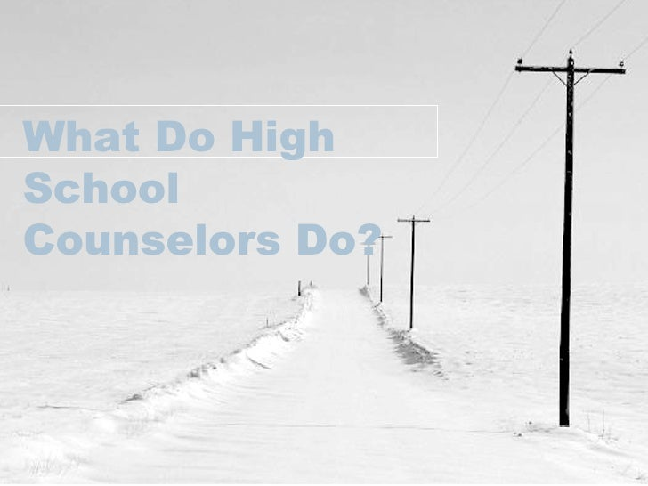 What Do High School Counselors Do?