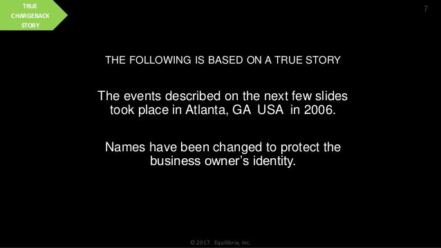 THE FOLLOWING IS BASED ON A TRUE STORY The events described on the next few slides took place in Atlanta, GA USA in 2006. ...