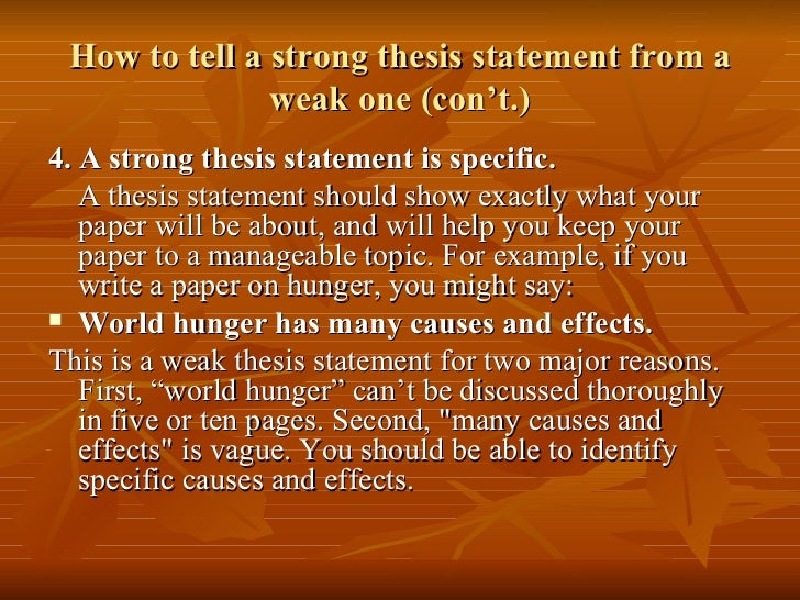 Recognizing thesis statements