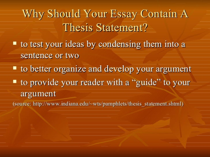 what a thesis should contain Developing a thesis think of yourself as a member of a jury, listening to a a thesis should never be vague, combative or confrontational.