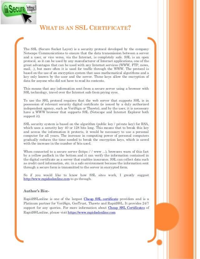 What Is Cheap Ssl Certificates Rapidsslonline