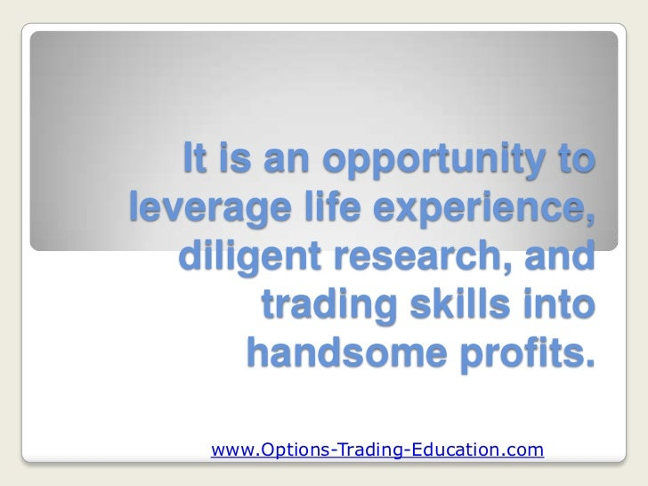 Commodities options trading