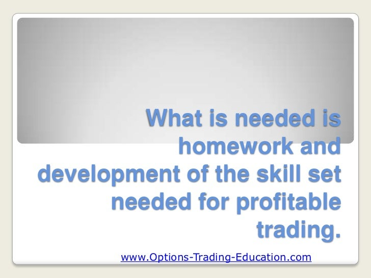What is option trade
