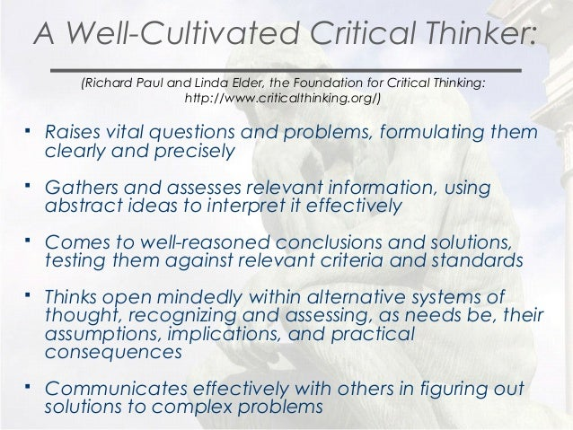 the paul elder model of critical thinking