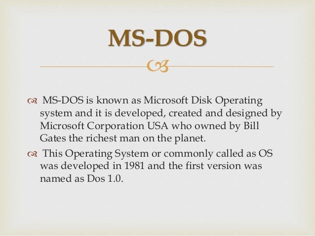 What is-dos-operating-system Slide 2