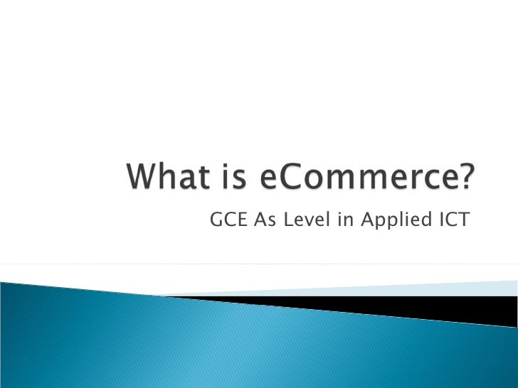 GCE As Level in Applied ICT