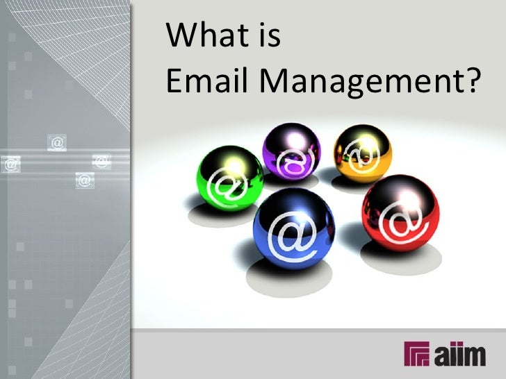 What is  Email Management?