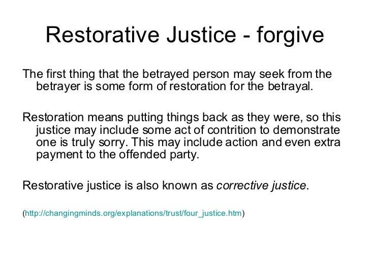 retributive restorative and political justice forms Restorative justice offers the hope of restitution or other forms of reparation justice philosophies and political retributive justice restorative.
